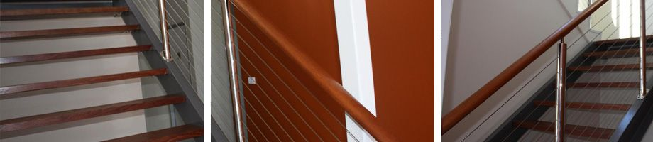 Stainless Steel Wire with Timber Top Rail